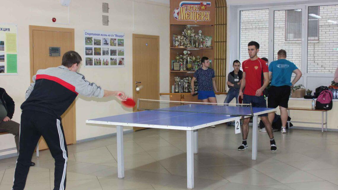 Турнир по настольному теннису среди команд средних и высших профессиональных образовательных учреждений г.о.Егорьевск